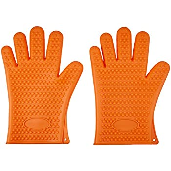 AmazonBasics Silicone BBQ Gloves, One Pair