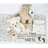 Baby Gift Set with Teddy Bear, Baby Bandana Bib, Receiving...