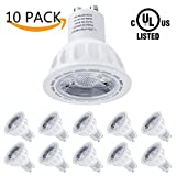 LightStory GU10 LED Bulbs, 5W 450lm, 50W Halogen Bulbs Equivalent, 3000K Warm White, 40° Beam Angle Non-Dimmable MR16 GU10 LED Light Bulbs, UL Listed, Pack of 10