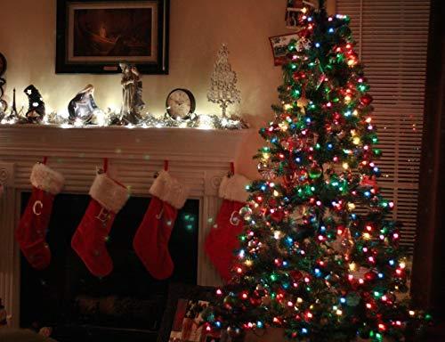 ANKOUJA Led Lichterkette 100er Innen für Weihnachtsbaum Verbindlich & Memroyfunktion für Weihnachten Zimmer Bett Hochzeit Party Schlafzimmer Tannenbaum 31V-8 Funktion Partylicherkette