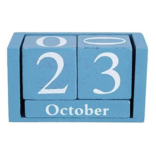 LAURUSQ Vintage Mesa de Adviento de Madera Calendario de ...