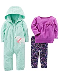 Simple Joys by Carter's Baby-Girls Baby 3-Piece Playwear Set