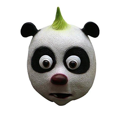 Price comparison product image Novelty Halloween Costume Party Animal Panda Mask Plastic Full Face Decorating Craft