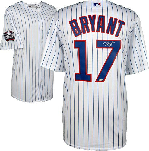 Kris Bryant Chicago Cubs 2016 MLB World Series Champions Autographed Majestic White Replica World Series Jersey - Fanatics Authentic Certified ()