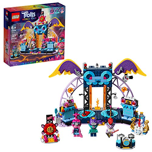 LEGO Trolls World Tour Volcano Rock City Concert 41254, Cool Trolls Toy Music Set Building Kit for Kids, New 2020 (387 Pieces)