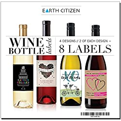 8 Beautiful Wine Bottle Labels for Engagement Gift, Wedding, Anniversary, All Couples, Bridal Shower, Bachelorette Party, Set of 8, Unique Gifts for Women, Men, Personalized Gifts Ideas for Him, Her