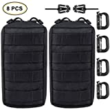 EVERLIT 2-Pack Tactical Utility Molle Pouch with Multipurpose D-Ring Grimloc Locking and Web Dominators