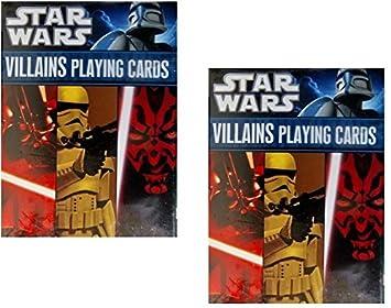 Star Wars Villanos Juego de cartas 2-Pack Set por cartamundi ...