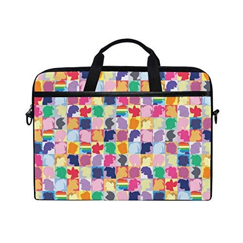 My Little Pony Twilight Sparkle Pinkie Pie Rainbow Dash Laptop Shoulder Messenger Bag Case Sleeve for 14 Inch to 15.6 Inch with Adjustable Notebook Shoulder Strap
