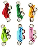Wrist Band Jingle Bells, EYLEER 6 Pcs Wrist Band Jingle Bells Musical Rhythm Bell Toys,5 Colors,Children's Musical Instruments for School, Assorted Color 6 Pack)