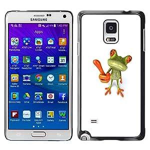 Paccase / SLIM PC / Aliminium Casa Carcasa Funda Case Cover para - Idea Innovation White Green - Samsung Galaxy Note 4 SM-N910F SM-N910K SM-N910C SM-N910W8 SM-N910U SM-N910