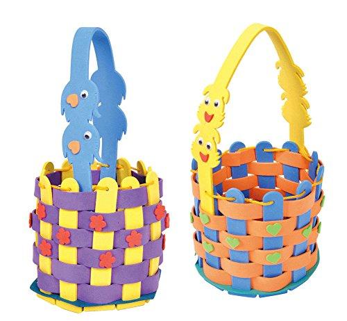 2 Packs Weaving Basket Crafts for Preschoolers DIY Materials
