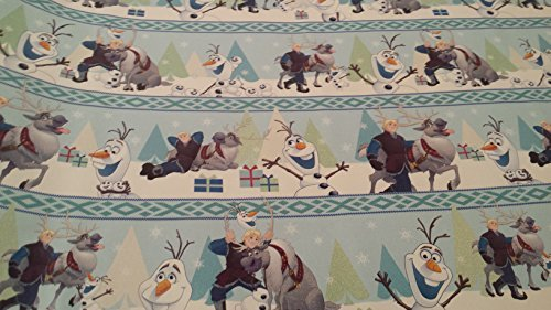 Christmas Wrapping Prince Kristoff Elsa Frozen Holiday Paper Gift Greetings Sleeping Beauty Belle Cinderella Tiana 1 Roll Design Festive Wrap Disney -