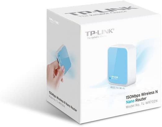 TP-LINK TL-WR702N Wireless N150 Travel Router, Nano Size, Bridge/Repeater Modes