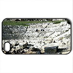 Greek theatre in Taormina, Sicily (500 b.C) - Case Cover for iPhone 4 and 4s (Ancient Series, Watercolor style, Black)