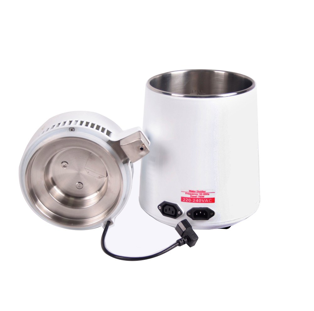 Vinmax Water Distiller Machine&4L Stainless Steel Internal Pure Water Distiller Water Filter Distilled Water(SHIPPING FROM USA)