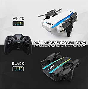 BTG JJRC H345 Dual Aircraft Combination Foldable Micro Drone Kit - Two Mini Drones with One Controller - Headless Mode, One Key Take-off/Landing/Return to Home, 3D Flips and Rolls from BTG