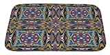 Gear New Modern Mexican Textile Design Bath Rug Mat No Slip Microfiber Memory Foam