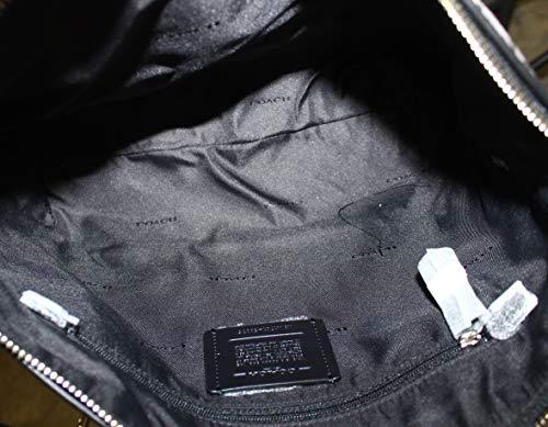 De black Smoke black1 Tejido 58875li Mujer Coach Mano Sv Bolsos Hqw7R7