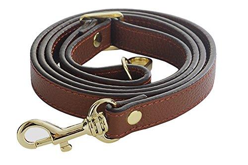 SeptCity Top Quality Grain Leather Adjustable Shoulder Straps -1.8 CM Width(20 Color) (Coffee)