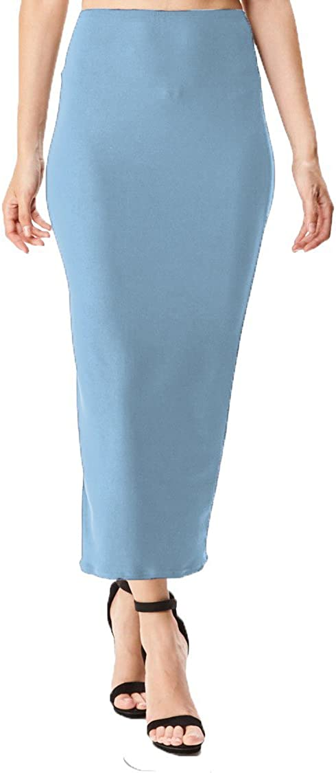 Women's Midi Long Pencil Straight Skirt Solid & Floral Maxi Casual, Office, Dressy Bodycon