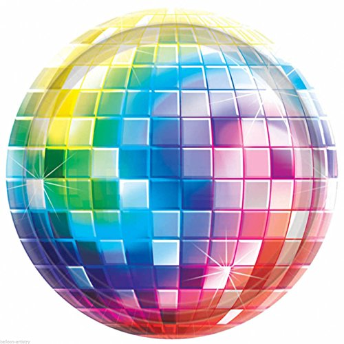Amscan 591222 Disco Fever Party Plates 10 1/2