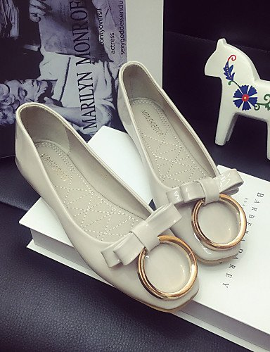 zapatos de gray PDX negro uk6 tacón us8 cn39 Flats elegante zapatos casual de Classic mujer eu39 cerrado la Toe rojo gris xgwq5FwY