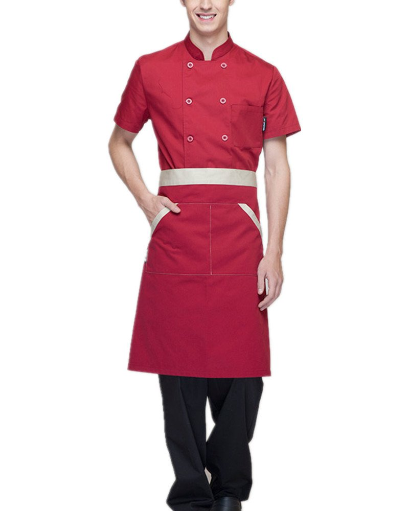 Boupiun Summer Short Sleeve Chef Coat Fashion Cool Unisex Chef Jackets