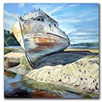 Inverness Boat by Colleen Proppe, 18x18-Inch Canvas Wall Art