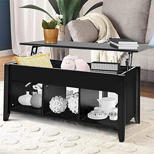 picture of SSLine Lift Top Coffee Table - Hidden Compartment Storage Shelf