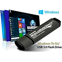 Kanguru Solutions Mobile WorkSpace 64 GB USB 3.0 Flash Drive (KWTG100-64G)
