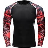 Fanii Quare Men's Soft Slim Long Sleeve Dry-Fit Compression Gym Trainning Shirt