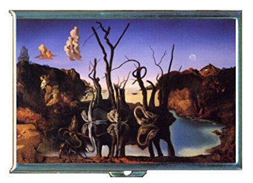 Salvador Dali Reflections Elephants Stainless Steel ID or Cigarettes Case (King Size or - Case Dali Salvador Cigarette