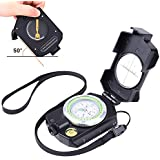 Sportneer Multifunctional Survival Sighting Compass with Inclinometer, Distance Calculator, Military Lensatic Waterproof Compasses for Camping, Hiking, Backpacking, Boy Scout,Navigation, Boating