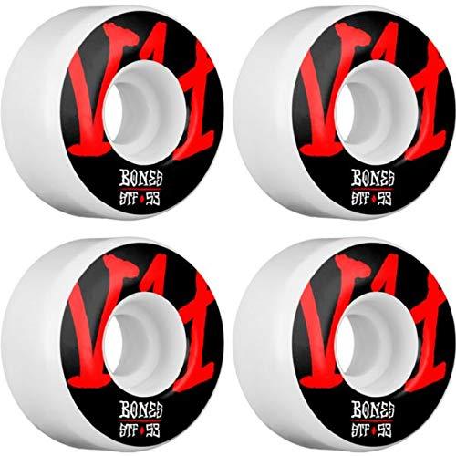 Bones Wheels STF V4 Annuals ホワイトスケートボードホイール - 53mm 103a (4個セット)   B07JHJW3TG