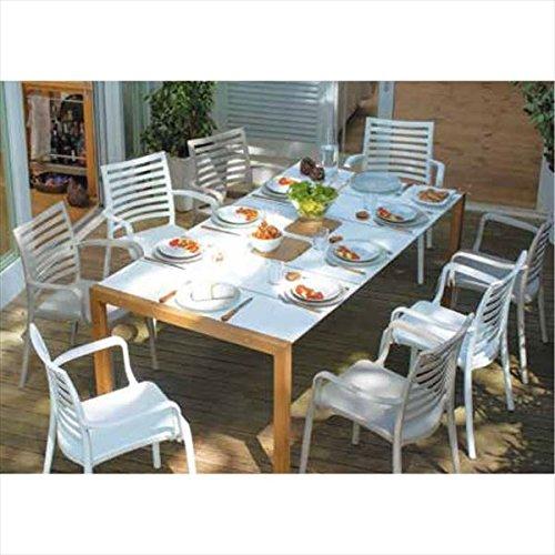 タカショー サンデー テーブルチェア9点セット 『ガーデンチェア ガーデンテーブル セット』 B075WRGVVG