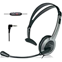 Panasonic KX-TCA430 Comfort-Fit, Foldable Headset with Flexible Noise-Cancelling Microphone and Volume Control, Regular…