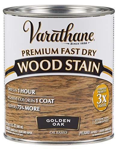 Varathane 262003 Premium Fast Dry Wood Stain, 32 oz, Golden Oak