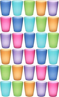idea-station Neo Vasos plástico 30 Piezas, 250 ml, Colorido ...