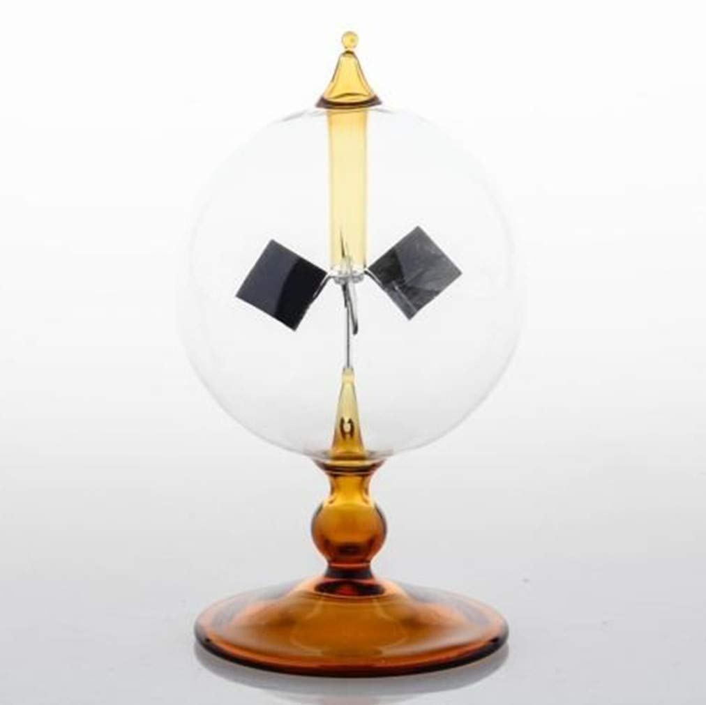 DORAMI Orange Solar Power Radiometer Crookes Solar Energy Spinning Vanes Windmill Gift Home Desk Decoration by DORAMI