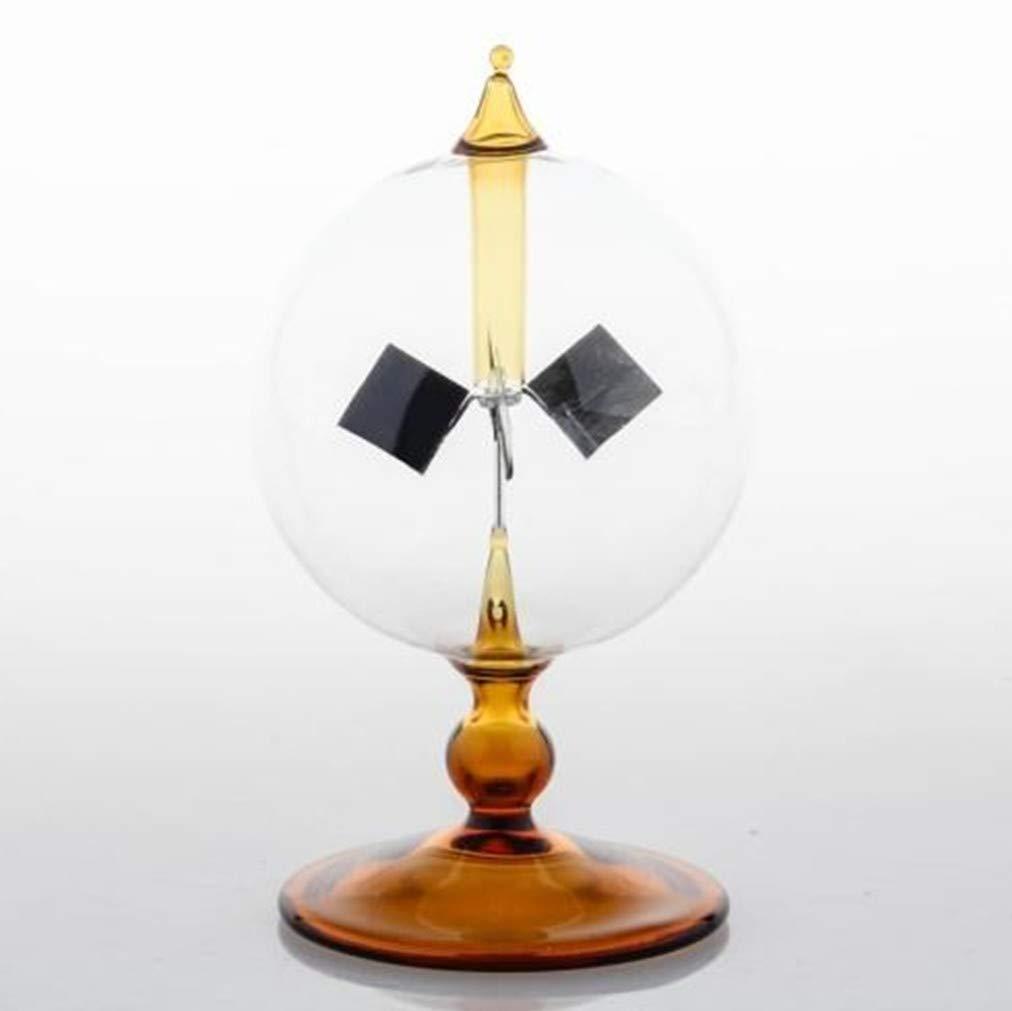 DORAMI Orange Solar Power Radiometer Crookes Solar Energy Spinning Vanes Windmill Gift Home Desk Decoration