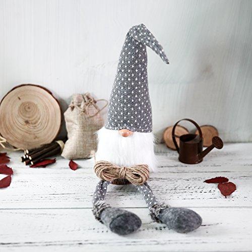 Fur Christmas Ornaments (Handmade Swedish Tomte,Santa - Scandinavian Gnome Plush-Valentine's Day Gift Birthday Present - Home Ornaments Holiday Decoration Table Decor)
