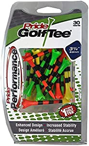 Pride Performance Striped Plastic Golf Tee, 30 Count