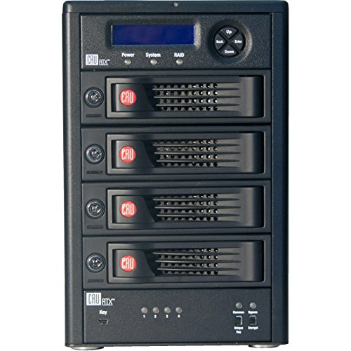 Cru RTX Secure 410-3QR DAS Array - 4 x HDD Supported - 4 x HDD Installed - 8 TB Installed HDD Capacity 35450-3136-3400