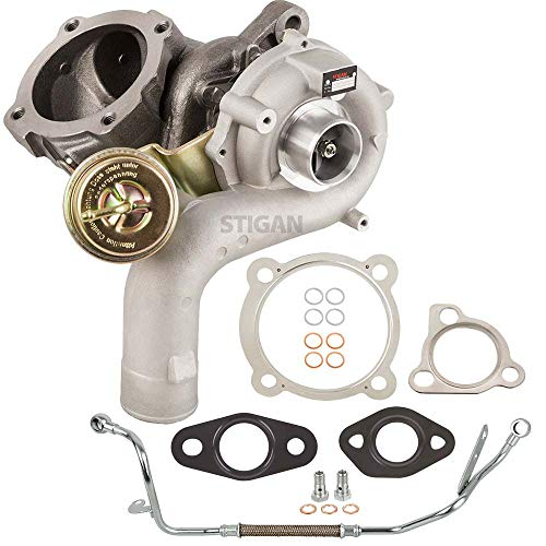 (Stigan Turbo Kit With Turbocharger Gaskets & Oil Line For Volkswagen VW Jetta Golf GTI GLI Mk4 New Beetle 1.8T AWV AWW - BuyAutoParts 40-80334S4 New)