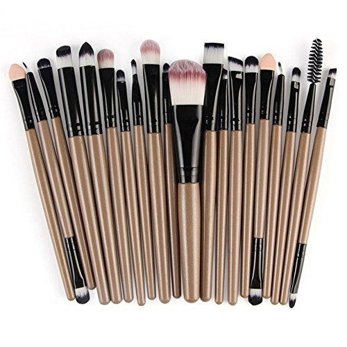20 Pcs Makeup Brush Set Professional Face Eye Shadow Eyeliner Foundation Blush Lip Makeup Brushes Powder Liquid Cream Cosmetics Blending Brush Tools (Cream Eyeshadow Brush)