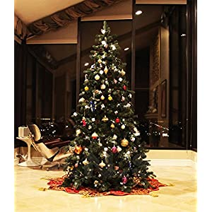 artificial pre-lit christmas tree