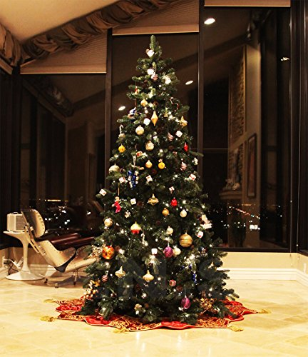 8 FT Prelit Premium Spruce Hinged Artificial Christmas Tree 1600 Realistic Branch Tips / Pines With 600 LED lights and Stand by xmasource (Image #3)