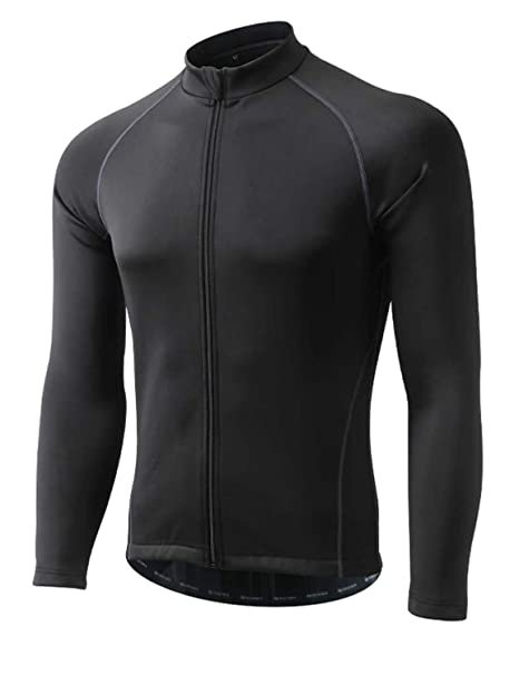 667bc60ad voofly Cycling Jackets for Men Winter Thermal Windproof Reflective Bicycle  Jerseys Long Sleeve Biking Clothing Black