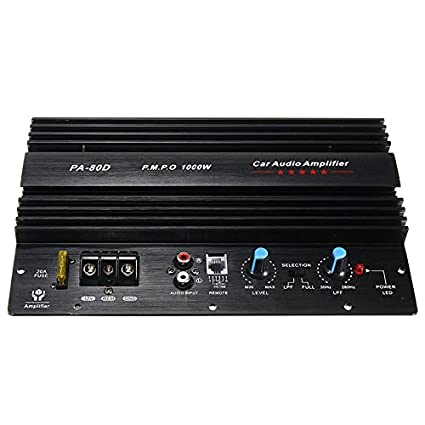 SODIAL 12V 1000W Mono Car Audio Amplificador de Potencia Potente ...